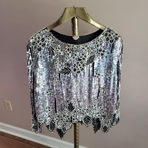 Vintage Silk Sequin Blouse by GUNIT